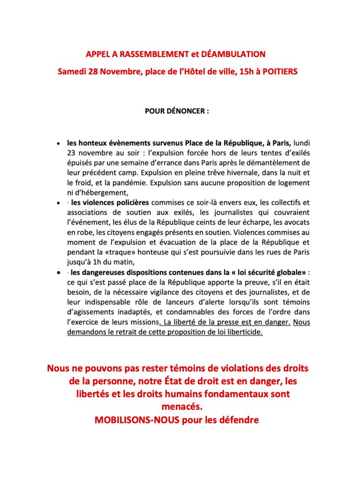 APPEL A RASSEMBLEMENT et DÉAMBULATION du 28 nov avec premières signatures-01