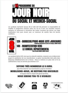 Jour noir du social et médico social 08/04/2021
